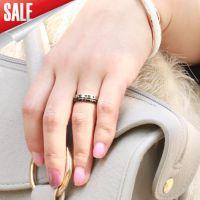 正品戒指新款时尚首饰黑色真实感觉转动情侣钛钢戒指夜市生日指环