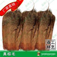 热销真棕毛 仿真人造假椰子树棕榈树海藻树配件真树皮棕毛批发