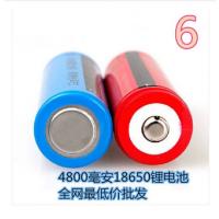 电池 贝斯卡骑行强光手电锂电池4800毫安 自行车骑行手电筒锂电池