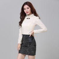 实拍2014秋装新款 韩版大码女装雪纺罩衫上衣潮长袖打底衫