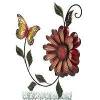 铁艺欧式蝴蝶壁挂家居壁饰创意墙饰铁艺彩绘挂件家居装饰品