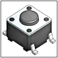 自主产销贴片6*6轻触开关SMT环保耐高温编带装盘。一组1000pcs