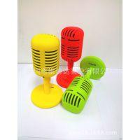 供应麦克风造型玩具家用音箱 创意手机蓝牙音箱 USB充电蓝牙音箱