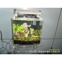 深圳有机玻璃厂大量供应有机玻璃新款造景观赏型鱼缸