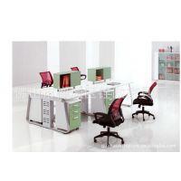 四人工作桌 钢木办公桌 现代办公台 办公屏风组合卡位卡座 新款
