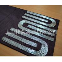 厂家加工串珠桌旗 手工珠绣餐桌布 刺绣台布 钉珠桌布 亮片绣桌旗