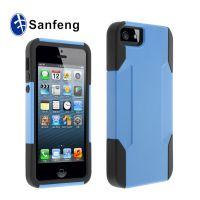 iPhone5盔甲条纹手机保护套 硅胶保护壳 超级二合一苹果5手机外壳