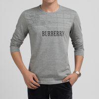 特价新款 2014秋季男式长袖T恤 圆领镶边修身休闲男时尚打底衫