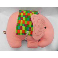 棉想大象布偶 布艺布偶 动物布偶 原创手工布偶