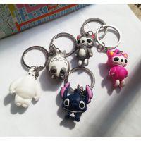 礼品批发 可爱动漫公仔私房猫 创意钥匙扣挂件 3D立体卡通钥匙链