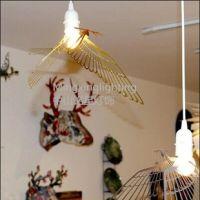 供应铭星现代简约美式乡村创意飞鸟小鸟吊灯客厅书房吧台餐厅铁艺吊灯