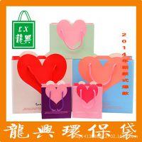 厂家直销广告购物牛皮纸袋 韩版礼品袋婚庆手提纸袋 粘扣纸袋