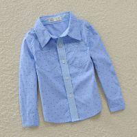 2014新款欧美外贸童装批发 波点男童衬衫长袖 中小童潮童衬衫秋款