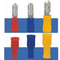 厂家供应连接器汽车冷压接线绝缘端子 子弹冷压接线端子公母规格
