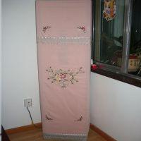 厂家直销 手工丝带绣 粉色蜂巢布空调柜机罩 空调罩 批发零售