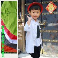 男童百搭的中式立领打底衫(玫红/橘黄/藕荷/绿/白五色)--亲子装