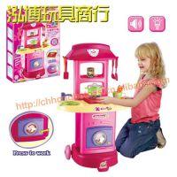 过家家玩具 多功能洗衣机餐具推车 带灯光音乐 多款配件