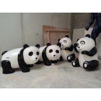供应玻璃钢熊猫雕塑  仿真国宝雕塑