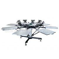 供应新锋山东服装丝网印刷机 8色印刷机 成衣印花机 精密套色丝印机