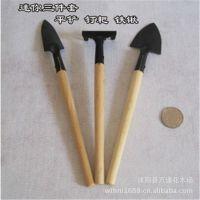 厂家批发园艺铲工具 耙锹 园林工具 迷你三件套 种花工具 便携式