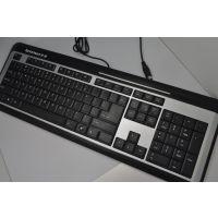 联想 V66标准超薄键盘 拼接钢板结构 经久耐用 办公家用键盘 USB
