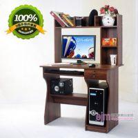 汪霖 组合台式电脑桌带书柜 简约家用电脑台 简易办公桌特