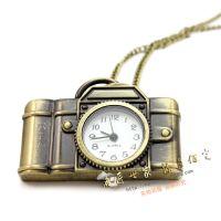 复古挂表复古怀表相机挂表项链表挂件表欧美饰品暴款 拉丝工艺