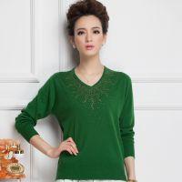 DR3062 秋季新款套头妈妈装 中老年纯色宽松打底衫韩版女式针织衫