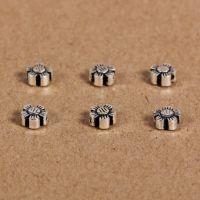 925纯银泰银批发 diy配件 5mm花型散珠隔珠串珠挂件手工材料d006