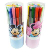 新款!正品授权迪士尼筒装米奇水彩笔 18色可洗水彩笔 Z6159-1
