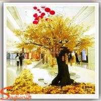 供应仿真许愿树 玻璃钢金色榕树 商场酒店人造仿真树