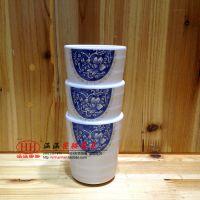 批发涵涵高级密胺餐具 瓷白花螺纹杯 塑料仿瓷火锅大麦茶饮料杯子