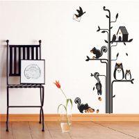 猫头鹰 松鼠 可移除 PVC透明  客厅卧室 沙发电视 背景装饰TC1015