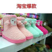 2014新款包跟棉拖鞋 冬季保暖鞋居家情侣棉鞋 防滑月子鞋批发