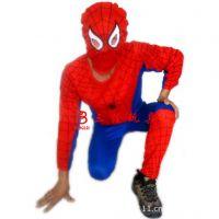 供应节日服装 游戏表演用品 蜘蛛侠紧身衣 成人蜘蛛侠服装套装