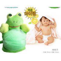 韩国卡通沐浴手套 沐浴花动物双面手套 沐浴手套(带麻)