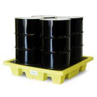 安徽贝辉供应4桶浅式盛漏托盘 5400-YE 4桶浅式防泄漏托盘 4桶浅式渗漏托盘