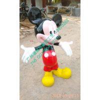 广州玻璃钢树脂工艺品雕塑卡通雕迪士尼卡通雕塑厂家米奇米妮与唐老鸭1米2米奇雕塑厂家