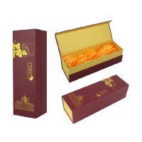 高档酒盒纸盒定做 pvc红酒礼盒