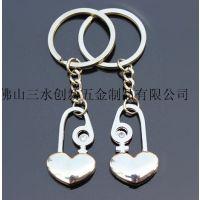 幸福一生爱情锁钥匙扣 情侣饰品挂件 物美价廉精品情侣钥匙扣批发