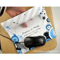 厂家定制 多功能鼠标垫 插照片鼠标垫 pp相框鼠标垫 可印企业logo