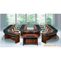 中山广州实木会议桌主席台圆桌会议