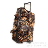 供应蛋黄色拉杆包,蛋黄复古拉杆手提包.拉杆行李包