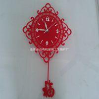 东莞亚克力挂钟、中国剪纸艺术中国风有机玻璃壁钟