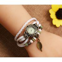 速卖通淘宝 牛皮复古手表 女款 厂家直供树叶复古手表手链表