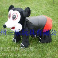 供应云南曲靖广场毛绒电动玩具车多少钱/文山米老鼠毛绒车那里有卖