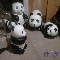 供应熊猫雕塑上海 玻璃钢模型雕塑