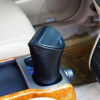 A品新料 杯座放置型车载垃圾桶 车用杂物置物桶 带彩盒包装新款