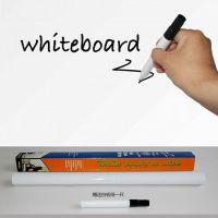 热卖批发 移动教学儿童白板加厚PVC纯色自粘型白板贴纸 45*200CM