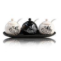 陶瓷调味罐套装 欧式田园创意调料罐密封厨房调味瓶 支持代发